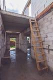 Två golv av ett nytt hus Arkivbild