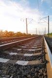 Två-gränd järnväg Sikt in i avståndet Royaltyfri Foto