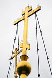 Två guld- ortodoxa kors Arkivfoto