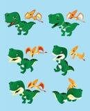 Två gulliga lilla dinosaurier Royaltyfri Bild