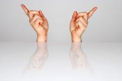 Två händer Royaltyfria Foton