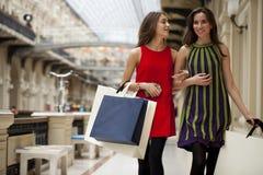 Två härliga brunettkvinnor Royaltyfria Bilder