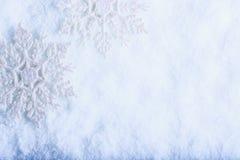 Två härliga mousserande tappningsnöflingor på en vit bakgrund för frostsnö Vinter- och julbegrepp arkivfoton