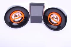 Två högtalare och spelare Royaltyfri Fotografi