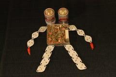 Två-hövdad robot Arkivfoton