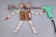 Två-hövdad robot Fotografering för Bildbyråer