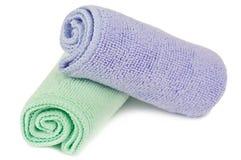 Två handdukar Fotografering för Bildbyråer