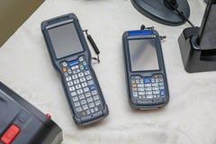 Två Handheld datorer royaltyfria foton