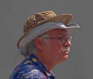 Två hattar för Jazzfest Arkivbilder