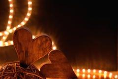Två hjärtor Fotografering för Bildbyråer