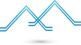 Två hus, tak, roofers och fastighetlogo, symbol vektor illustrationer