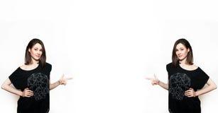 Två identiska flickor royaltyfria foton