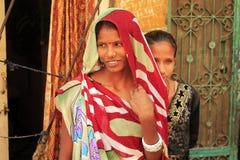 Två indiska flickor Arkivbild