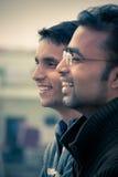 Två indiska unga lyckliga folk Royaltyfri Bild