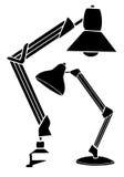 Två isolerade läs- lampor på vit bakgrund Vektorillustration i en skissastil stock illustrationer