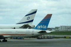 Två israeliska flygbolag Royaltyfria Foton