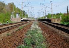 två järnväg linjer Royaltyfri Foto