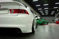 Två Japan sportbilar Fotografering för Bildbyråer