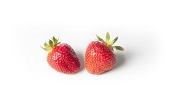 Två jordgubbar Fotografering för Bildbyråer