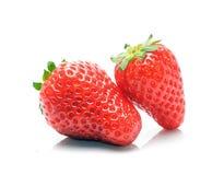 Två jordgubbar arkivbilder