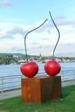 Två körsbär Royaltyfri Fotografi