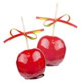 Två kanderade äpplen Royaltyfri Bild