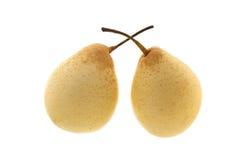 Två kinesiska päron Arkivbild