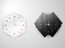 Två klockor vektor illustrationer