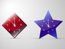 Två klockor stock illustrationer