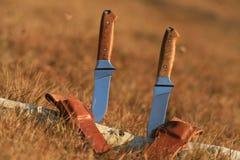 Två knivar fotografering för bildbyråer
