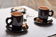 Två koppar av espresso Royaltyfri Bild