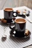 Två koppar av espresso Royaltyfria Bilder