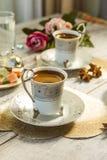 Två koppar av turkiskt kaffe Royaltyfri Bild