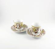 Två koppar för turkiskt kaffe Arkivfoton