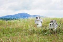 Två kors på kullen Royaltyfria Foton