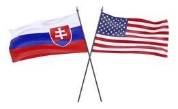 Två korsade flaggor vektor illustrationer