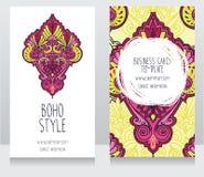 Två kort för bohostil Royaltyfria Foton