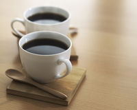 Två kuper av kaffe Arkivfoton