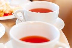 Två kuper av tea Arkivbild
