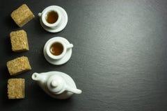 Två kuper av tea Arkivfoto