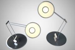 Två lampor vektor illustrationer