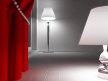 Två lampor på golvet royaltyfri illustrationer