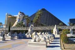 Två Las Vegas hotell Arkivbilder