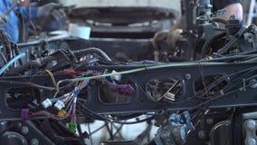 Två ledar- lastbilreparationer lager videofilmer