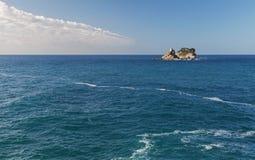 Två lilla öar i Adriatiskt havet, Montenegro royaltyfri bild