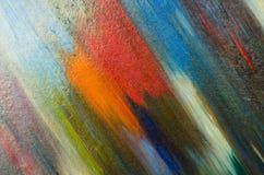 Två ljusa sudd av vattenfärgmålarfärg Royaltyfri Bild