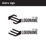 Två logoer i form av stege Arkivbild
