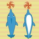 Två lyckliga delfin Arkivbilder