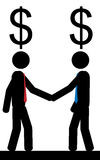 Två män tänker på pengar Royaltyfria Foton
