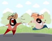 Två män utomhus royaltyfri illustrationer
